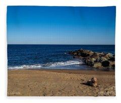 Plum Island Scene Fleece Blanket