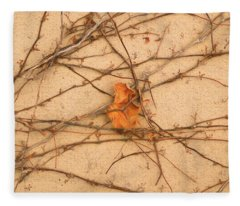 Fleece Blanket featuring the mixed media Poignant 4 by Lynda Lehmann