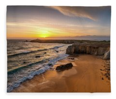 Pointe Du Percho And Port Blanc Fleece Blanket