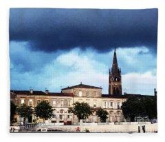 Poking The Storm Fleece Blanket