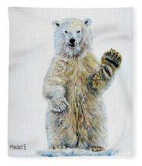 Polar Bear Baby Fleece Blanket