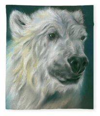 Polar Bear Portrait Fleece Blanket