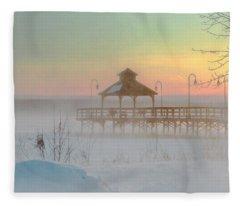 Polar Vortex Sunset Fleece Blanket