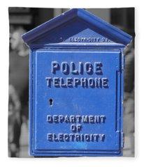Police Box Fleece Blanket