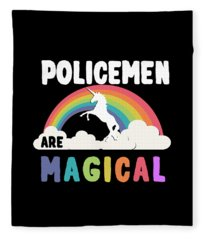 Policemen Are Magical Fleece Blanket