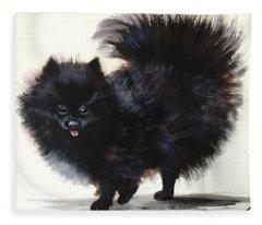 Pomeranian Dog 6 Fleece Blanket