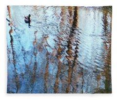 Pond Abstract Plus Duck Fleece Blanket