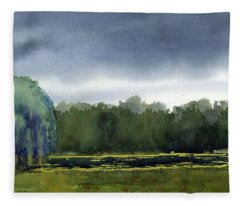 Pond At Taliesin Fleece Blanket