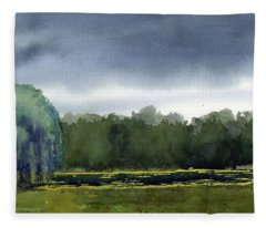 Pond At Taliesin Fleece Blanket