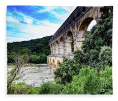 Pont Du Gard Aqueduct II A Unesco World Heritage Site Fleece Blanket