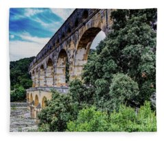 Pont Du Gard Fleece Blanket