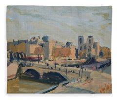 Pont Saint Michel Et Notre Dame Fleece Blanket