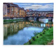 Ponte Vecchio Florence Italy Fleece Blanket