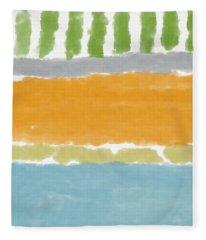 Poolside 1- Art By Linda Woods Fleece Blanket