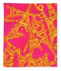 Pop Art Paris Fleece Blanket