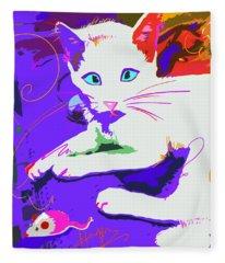 Pop Cat Cat Stevens Fleece Blanket