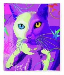 pOp Cat Cotton Fleece Blanket
