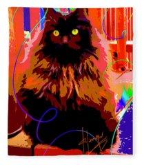 Pop Cat Delilah Fleece Blanket