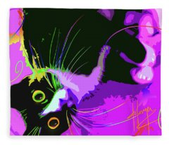 Pop Cat Dotty Fleece Blanket