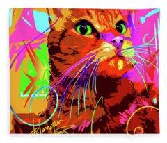 pOp Cat Kasey Fleece Blanket