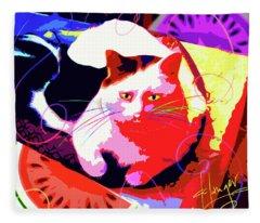 Pop Cat Toby Fleece Blanket