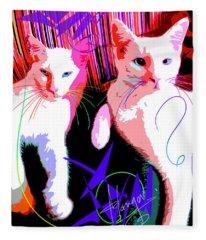 pOp Cats Cheesecake and Cat Stevens Fleece Blanket