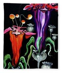 Poppies Fantasy.. Fleece Blanket