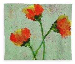 Poppies Fleece Blanket