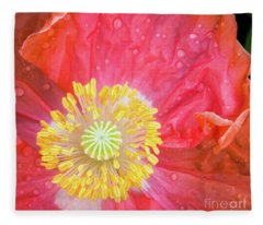 Poppy Closeup Fleece Blanket