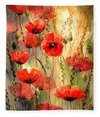 Poppy Serenade Fleece Blanket