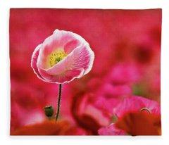 Poppy Standing Tall Fleece Blanket
