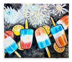 Popsicles And Fireworks Fleece Blanket