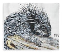 Porcupine Baby Fleece Blanket