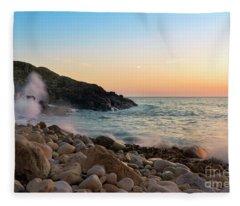 Porth Nanven Splashback Fleece Blanket