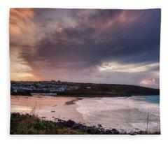 Porthmeor In The Sky Fleece Blanket