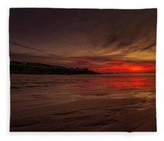 Porthmeor Sunset Fleece Blanket