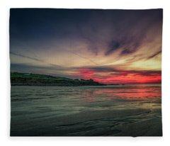 Porthmeor Sunset Version 2 Fleece Blanket