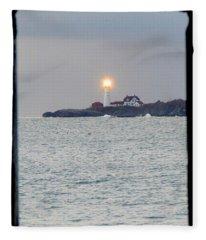 Portland Head Lighthouse Through The Gun Port Fleece Blanket