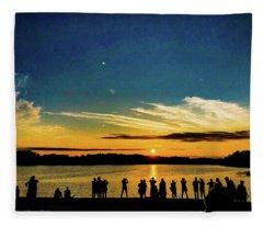 Portland Pauls Sunset Fleece Blanket