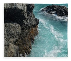 Porto Covo Cliff Views Fleece Blanket