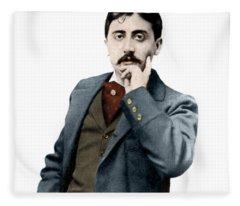 Portrait De Marcel Proust Fleece Blanket