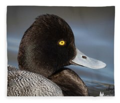Portrait Of A Greater Scaup Fleece Blanket