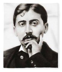 Portrait Of The French Author Marcel Proust Fleece Blanket