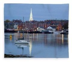 Portsmouth Across The Piscataqua River Fleece Blanket
