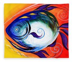 Positive Fish Fleece Blanket