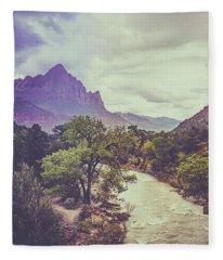 Postcard Image Fleece Blanket