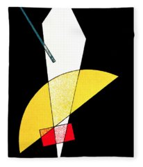 Poster For A Bauhaus Exhibition In Weimar, Germany, 1923 Fleece Blanket