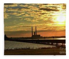 Potomac Sunrise Fleece Blanket