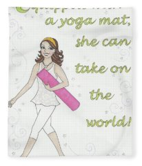 Power Of Yoga Mat Fleece Blanket