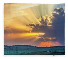 Powerful Sunbeams Fleece Blanket